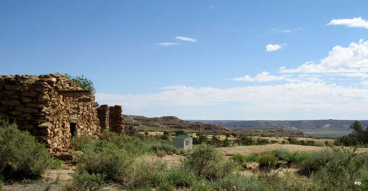 Photo taken at the edge of Old Oraibi on the Hopi Reservation