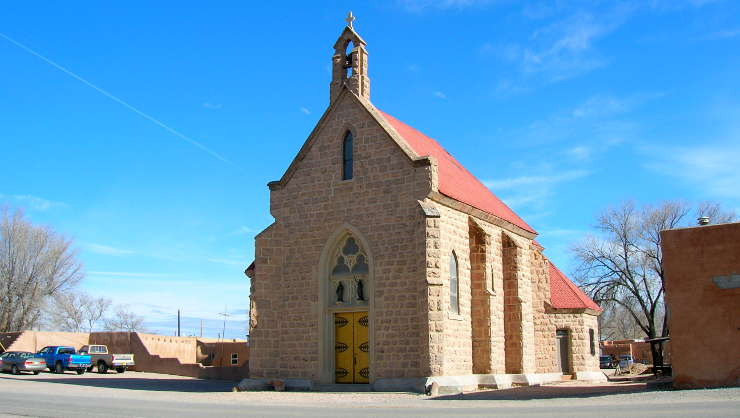A view of the mission church built in 1898