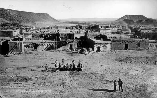 Black and white photo of San Felipe in 1879