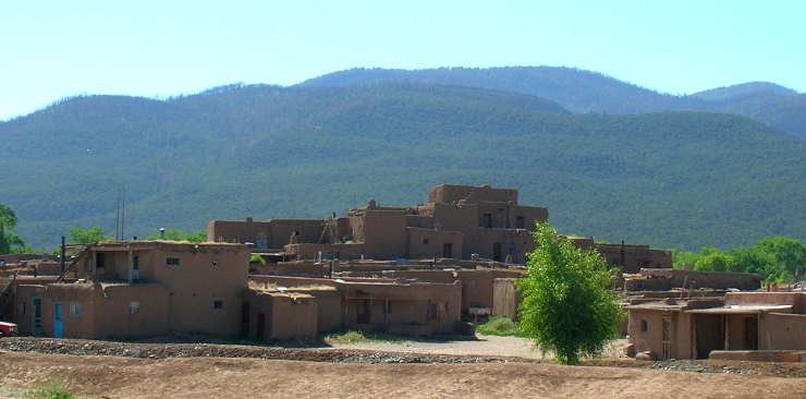 A view of the South House of Taos Pueblo