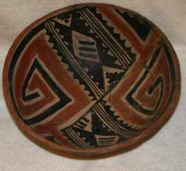 A polychrome ceramic bowl made about one thousand years ago
