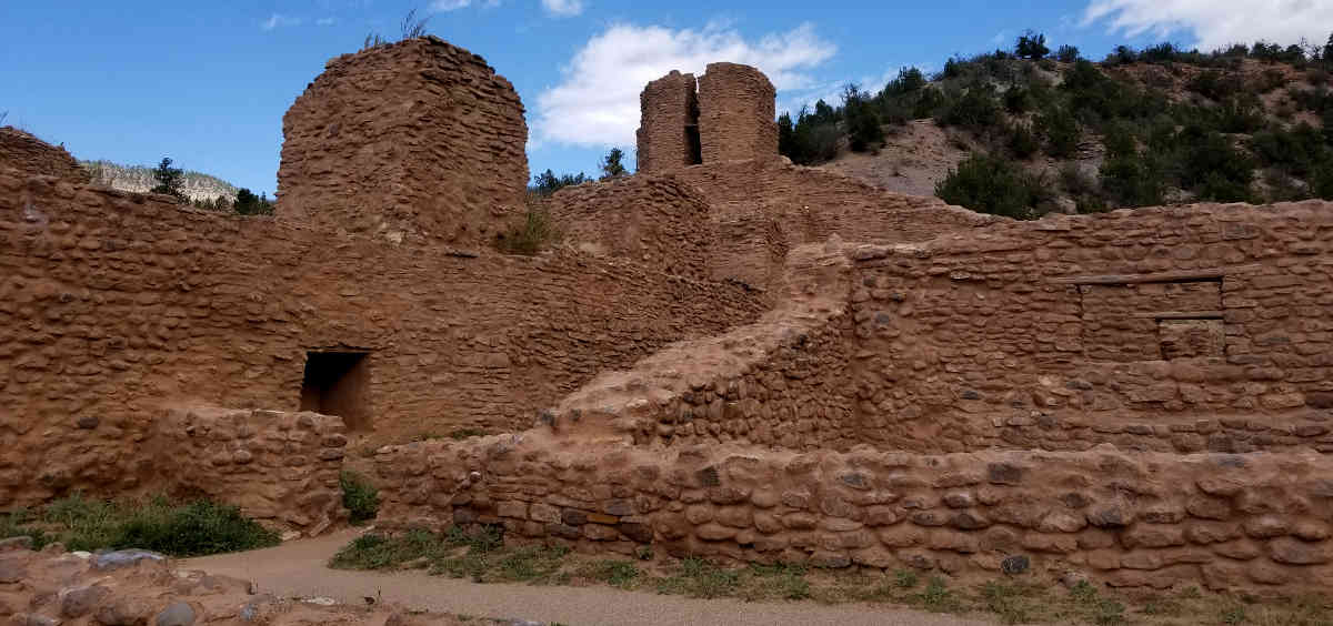 Part of the pueblo and mission remains at the Jemez State Historic Site