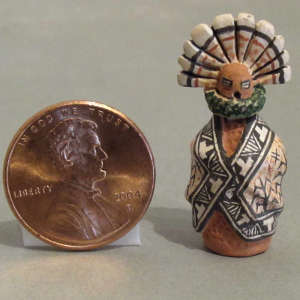 Miniature corn maiden jar with a lid