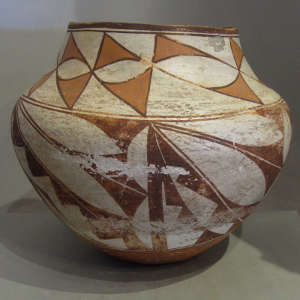 Polychrome olla by an unknown Laguna Pueblo potter
