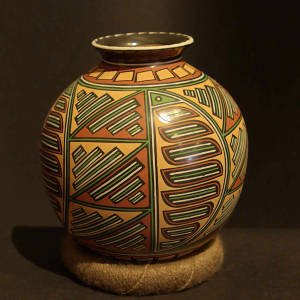 Geometric designs on a polychrome jar