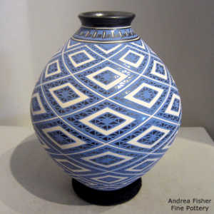 Geometric design on a polychrome jar