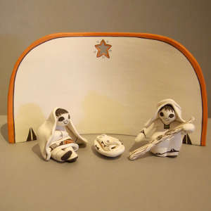 4 pieces in a nativity set