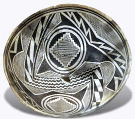 View of a Mimbres bowl