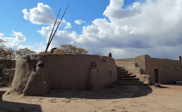 A view of the Nambé kiva
