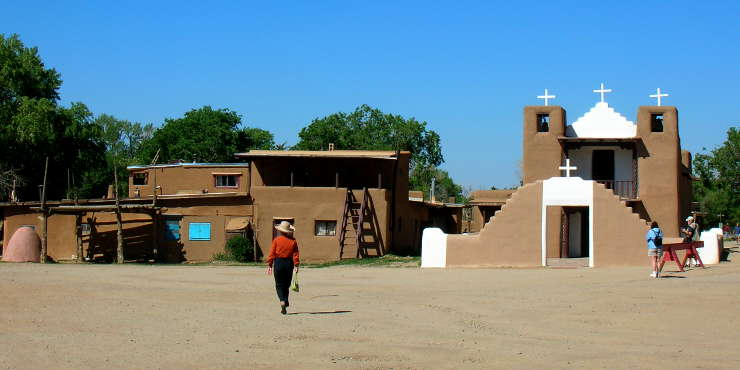 A view of San Geronimo de Taos Chapel