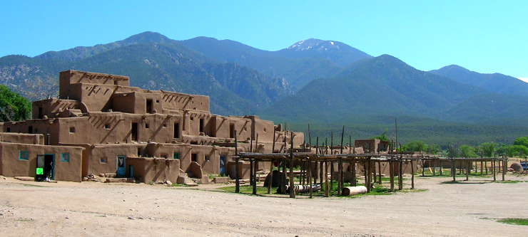 A view at Taos Pueblo today