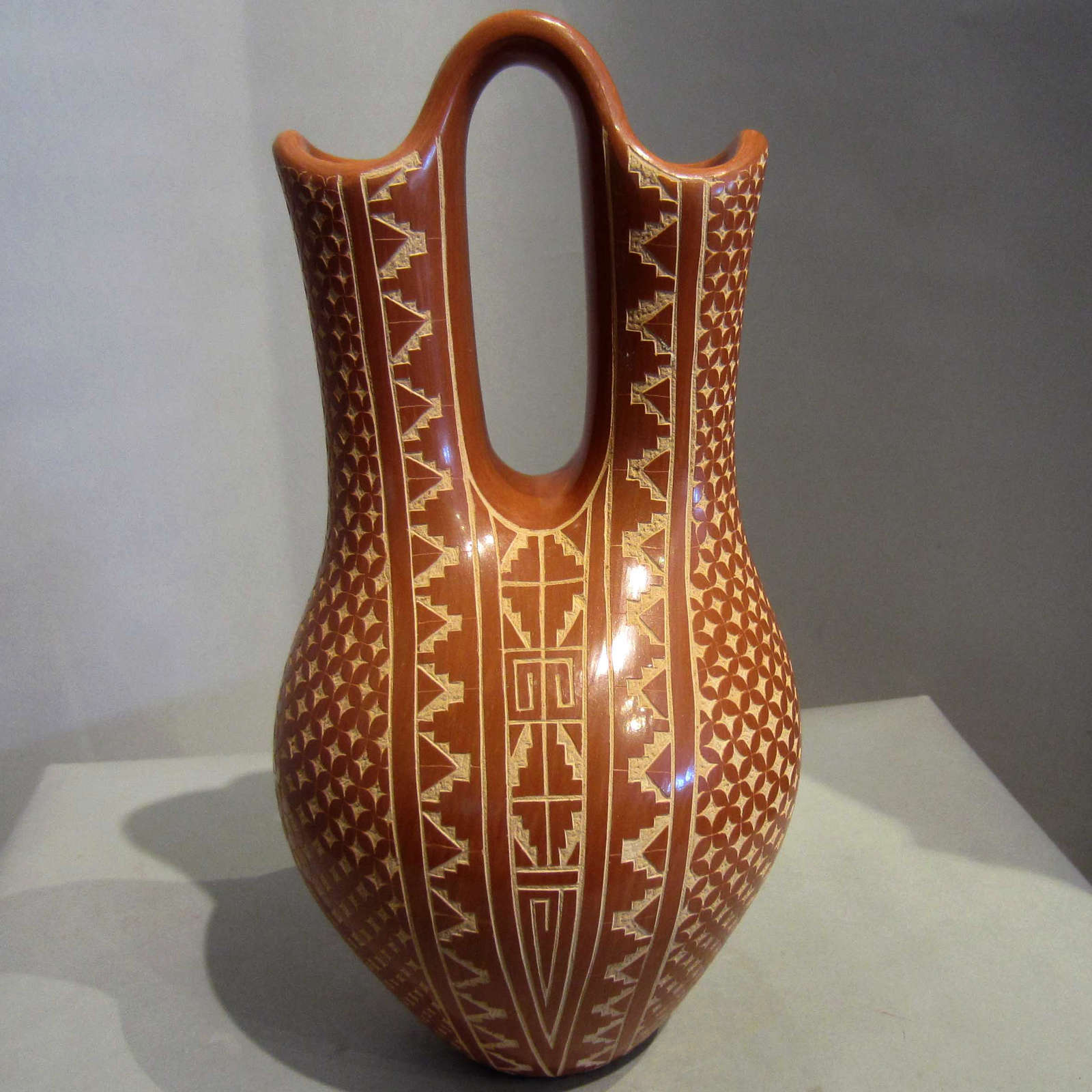 Wilma baca tosa wedding vases 1 jemez pueblo potters sgraffito geometric designs on a polished red wedding vase reviewsmspy